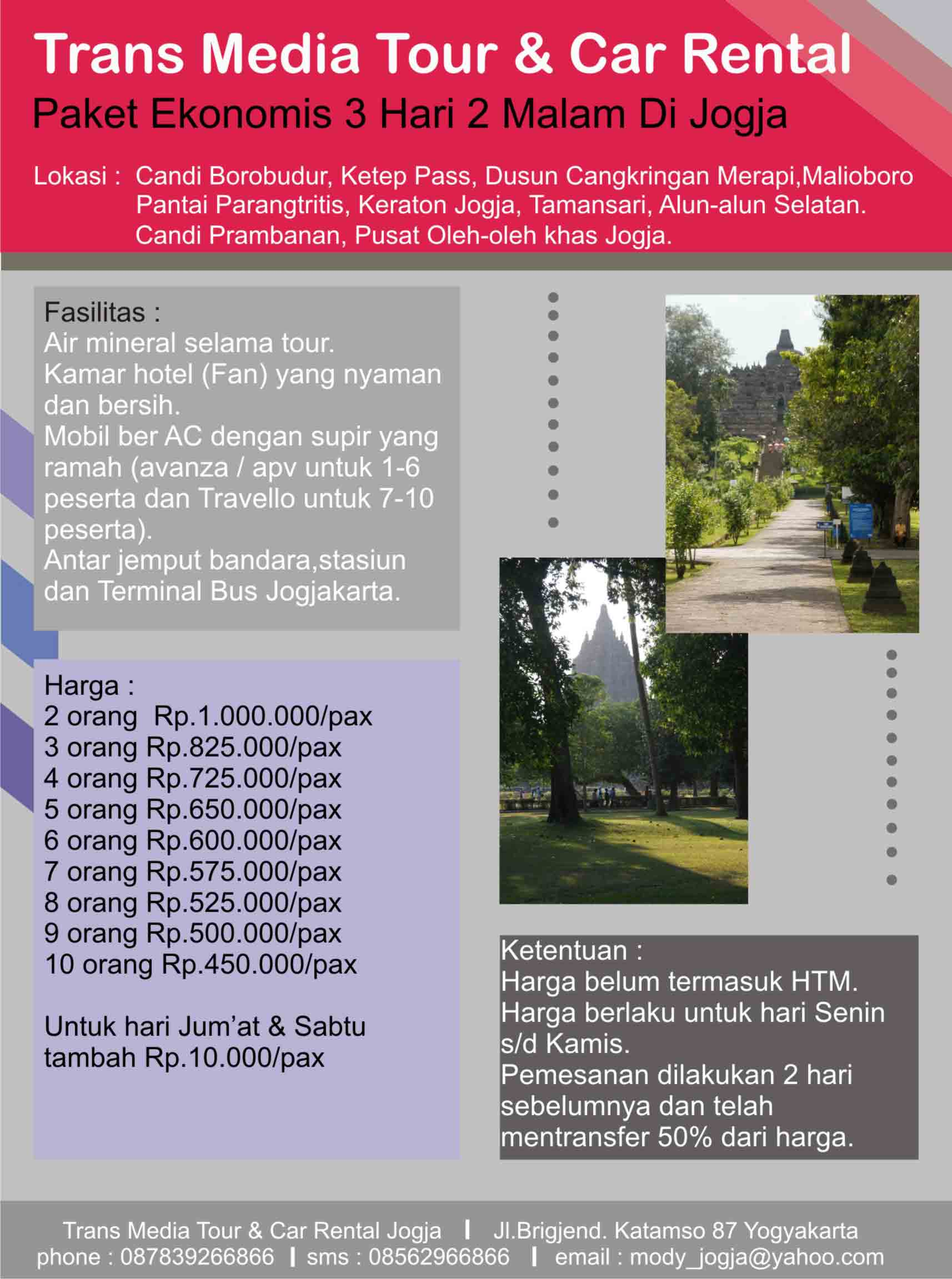 Itinerary Wisata Jogja Wisata Jogja